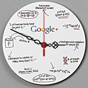 Zegar ścienny Google, 30 cm