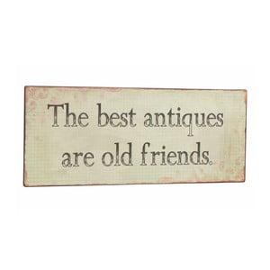 Tablica The best antiques, 31x13 cm