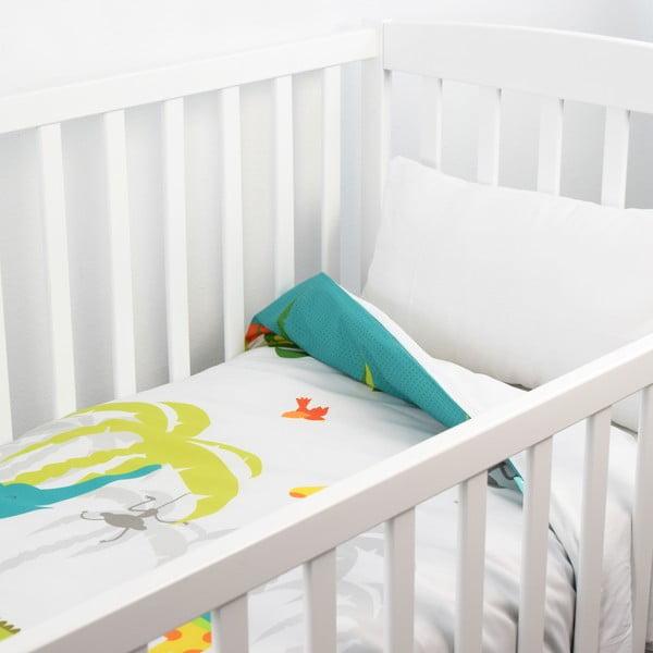 Dziecięca narzuta z poszewką na poduszkę Baleno ZOO, 120x180 cm