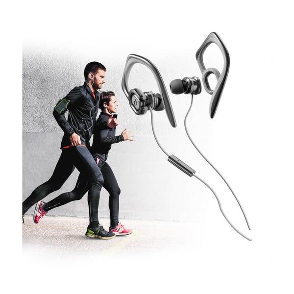 Słuchawki sportowe CellularLine GRASSHOPPER z mikrofonem, czarne