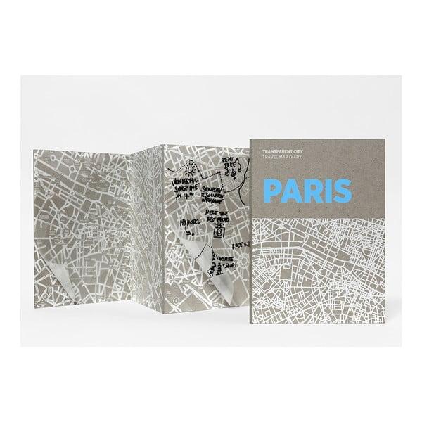 Mapa Berlina z przezroczystymi kartkami na notatki Transparent City