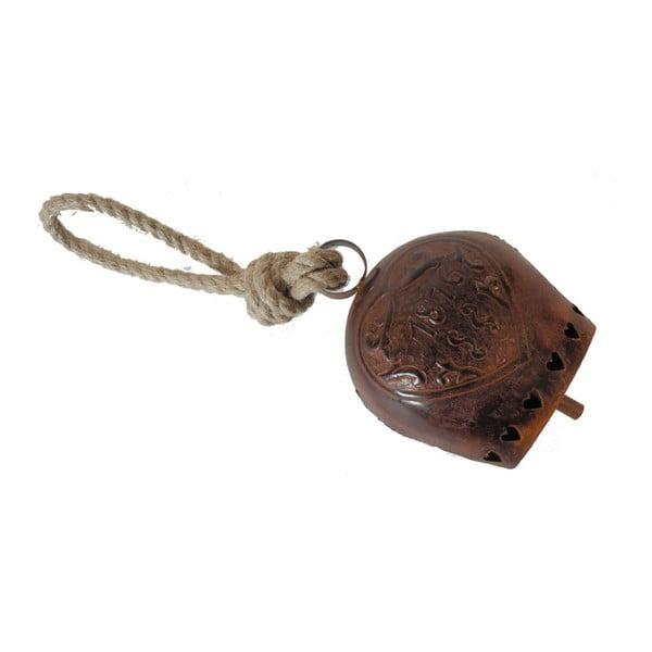 Dzwonek metalowy Antic Line Bell Open Heart