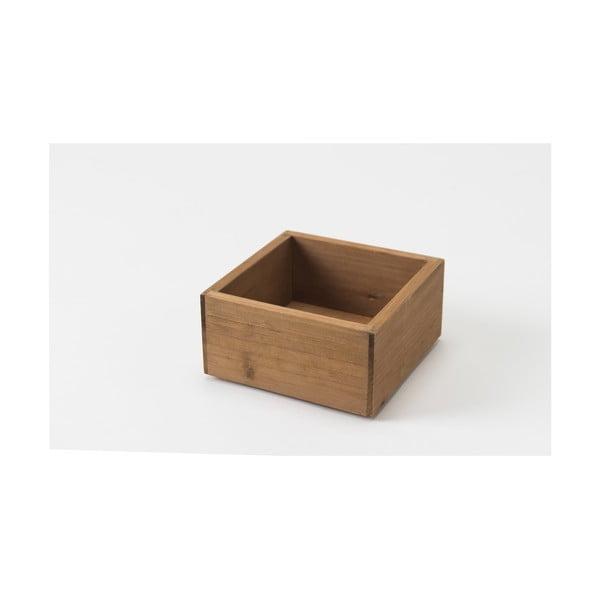 Pojemnik drewniany Compactor Vintage Box, 14x14 cm