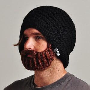 Czarna czapka z odpinaną brodą Beardo Original
