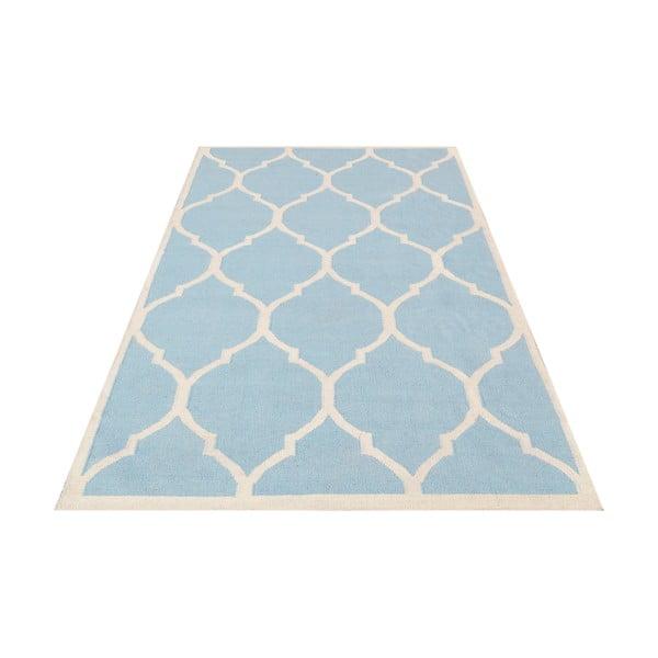 Dywan ręcznie wyszywany Lara Light Blue, 140x200 cm