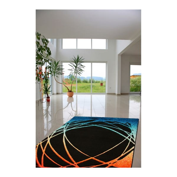 Dywan Lifestyle 111 black/orange, 80x150 cm