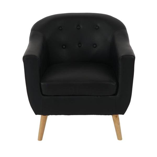 Fotel Vaasa Relaxing, czarna skóra