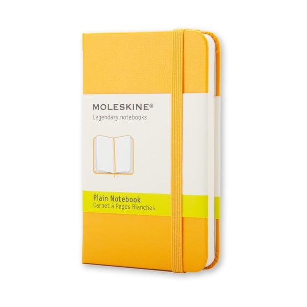 Żółty notatnik Moleskine Hard, bardzo mały, czyste strony