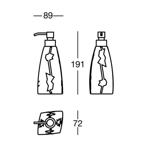 Dozownik mydła Silver Soap, 9x19x7 cm