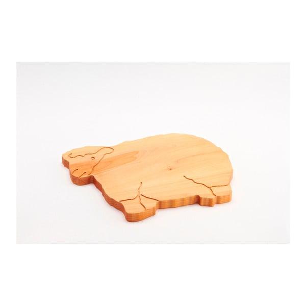 Deska do krojenia z drewna bukowego Bisetti Sheep, 34x29 cm