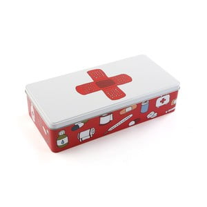 Metalowa apteczka First Aid