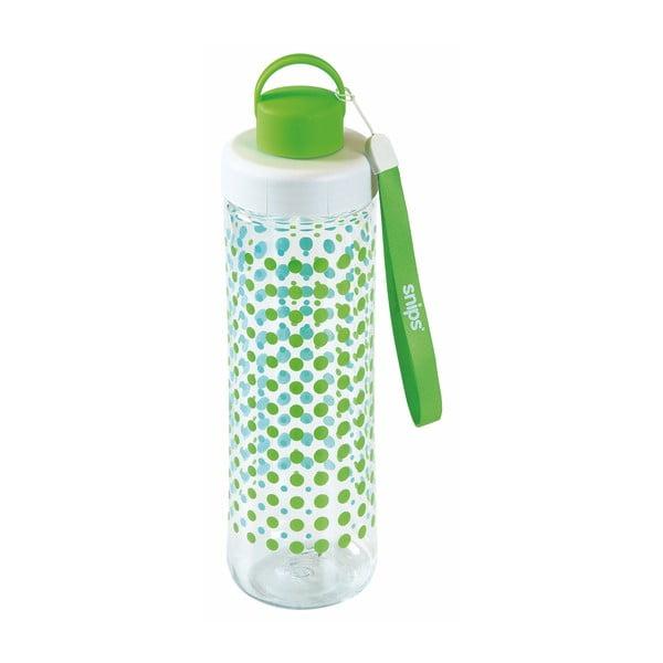 Zielona butelka na wodę Snips Decorated, 750 ml