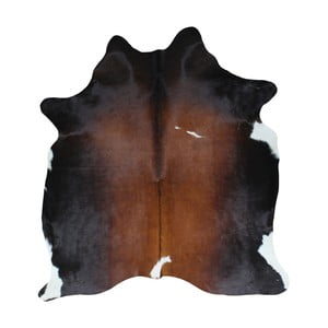 Czarno-brązowa skóra bydlęca, 195x160 cm