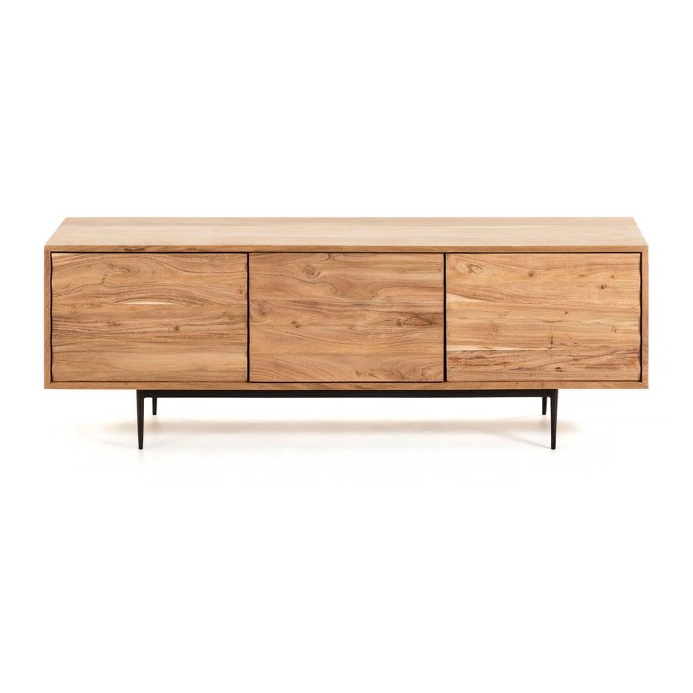 Jasnobrązowa szafka pod TV La Forma Delsie, 147x50 cm