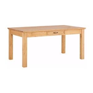 Brązowy stół z litej sosny i szufladą Støraa Suzie