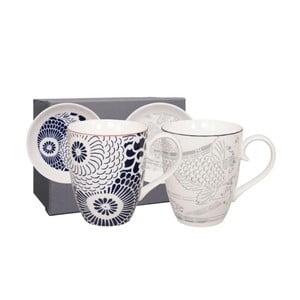 Komplet 2 porcelanowych kubków ze spodkami Tokyo Design Studio Shiki, 380 ml