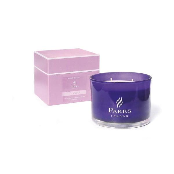 Świeczka Moods Purple, 55 godzin palenia, zapach lawendy, lilii i jaśminu