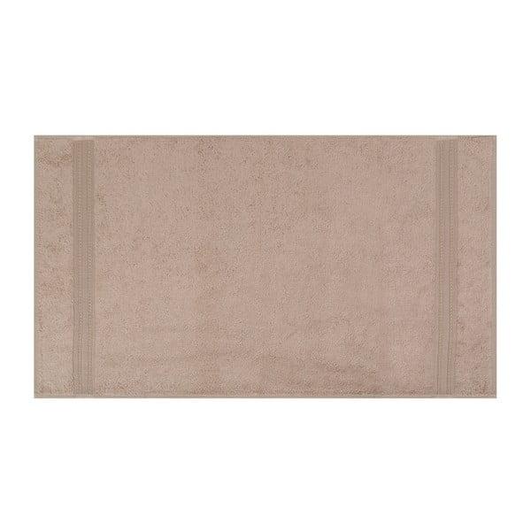 Brązowy ręcznik z bawełnianych i bambusowych włókien Ted, 50x90 cm