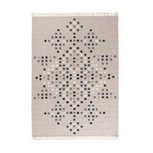 Jasnoszary dywan wełniany ręcznie tkany Linie Design Padova, 200x300cm