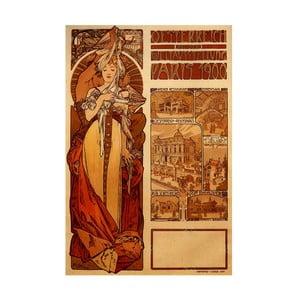 "Obraz ""Austria"" (Alfons Mucha), 60x90 cm"
