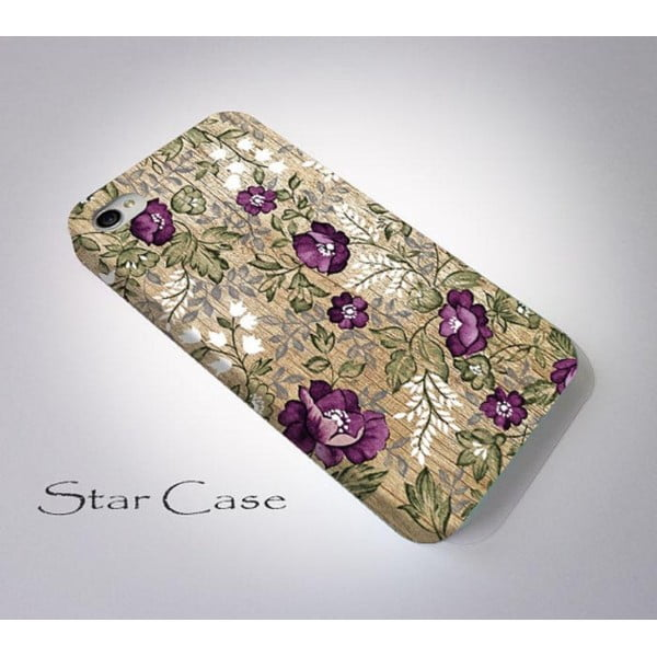 Etui na iPhone 4/4S Wood Floral Purple