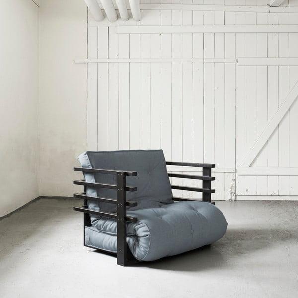 Fotel rozkładany Karup Funk Black/Gris