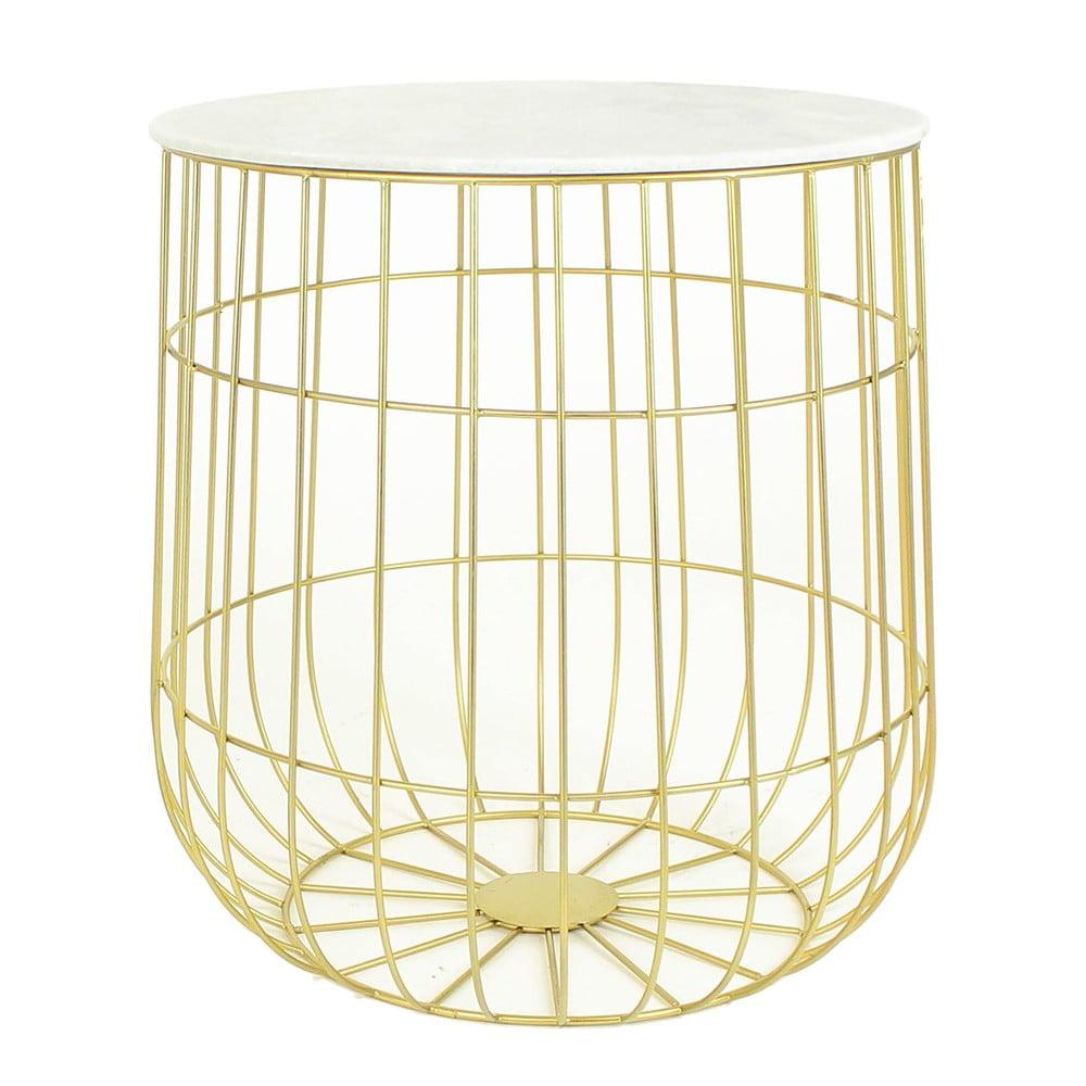 z oty metalowy stolik ze schowkiem hf living birdcage bonami. Black Bedroom Furniture Sets. Home Design Ideas