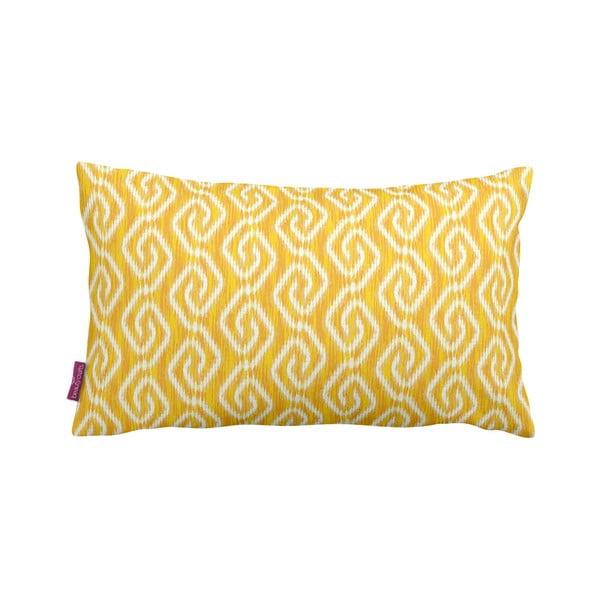 Żółta poduszka Yellow Pattern, 35x60 cm