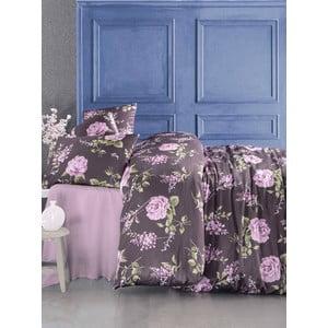 Komplet pościeli z prześcieradłem Serenay Purple, 200x220 cm