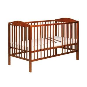 Łóżeczko dziecięce z bokami na stałe Samuel, kasztan