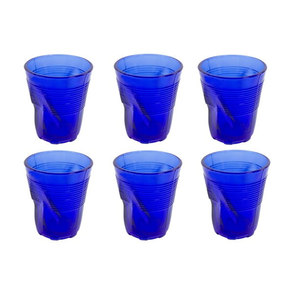 Zestaw 6 szklanek Kaleidoskop 225 ml, niebieski
