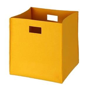Filcowe pudełko 36x35 cm, żółte
