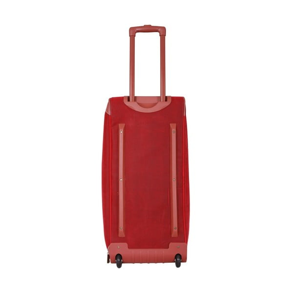 Podróżna torba na kółkach Jean Louis Scherrer Red, 76.5 l