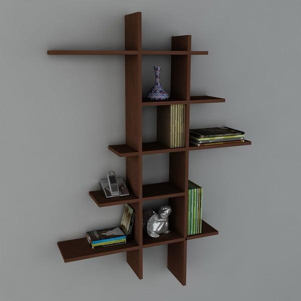 Półka Atlanta Book Wenge, 22x90x150 cm