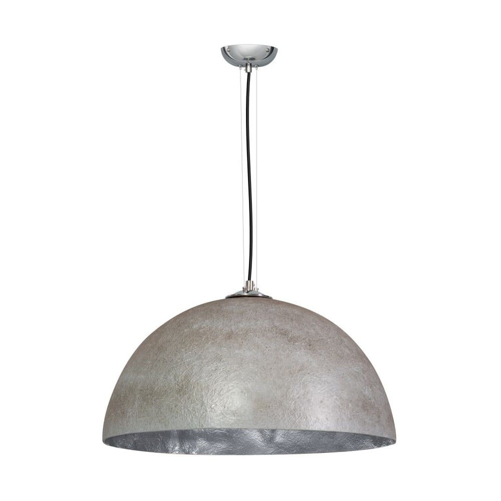 Szaro-srebrna lampa wisząca ETH Mezzo Tondo, ⌀ 50 cm