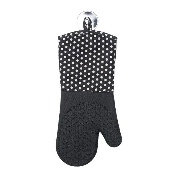 Zestaw 2 czarnych rękawic kuchennych z silikonu Wenko Oven