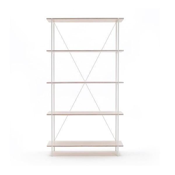 Biblioteczka One - biała, 80x144 cm