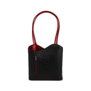 Czarno-czerwona torebka skórzana GIANRO' Straight