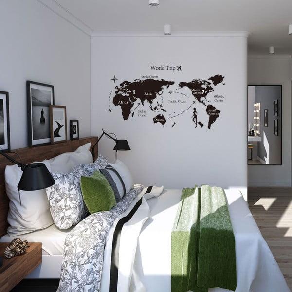 Naklejka dekoracyjna World Trip, 140x80 cm