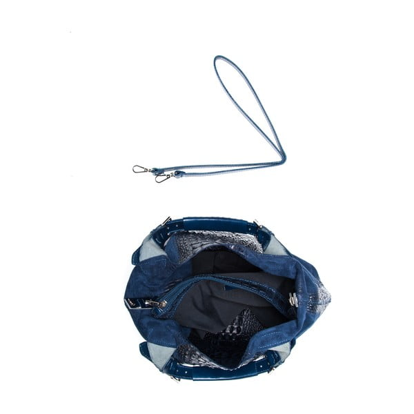 Skórzana torebka Roberta M. 820 Blue
