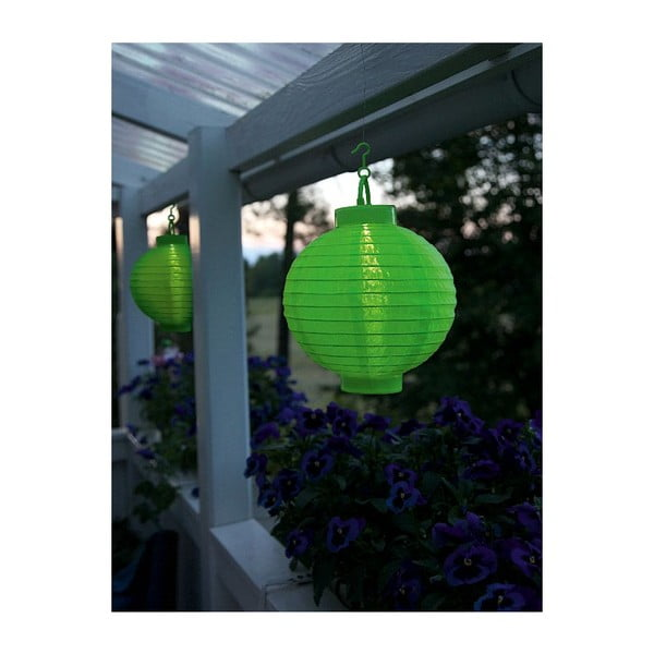Lampion z LED Summer, zielony