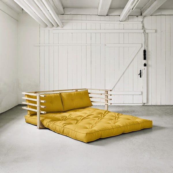 Sofa rozkładana dwuosobowa Karup Funk Natural/Amarillo