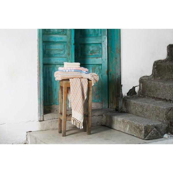 Ręcznik turecki Selma Hot Coral/Turquoise, 95x170 cm