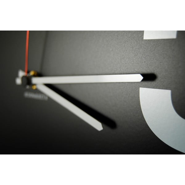 Zegar ścienny dESIGNoBJECT.it Number Line Black, 50 x 50 cm