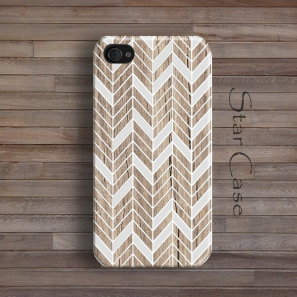 Etui na iPhone 4/4S Wood Chevron Her