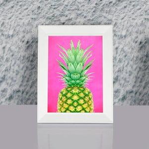 Obraz w ramie Dekorjinal Pouff Pink Peanapple, 23x17cm