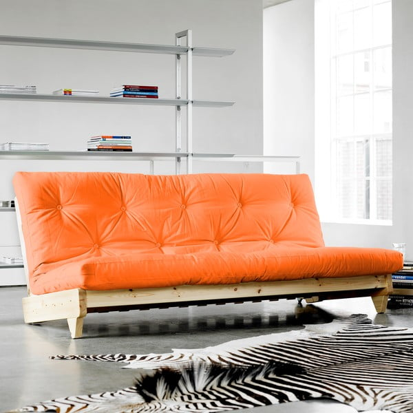 Sofa rozkładana Karup Fresh Raw/Orange