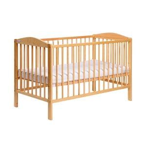 Łóżeczko dziecięce z bokami na stałe Samuel, sosna