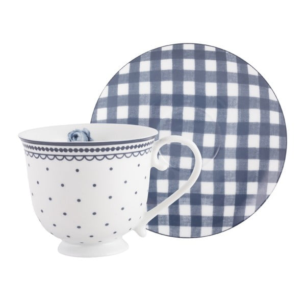 Filiżanka porcelanowa ze spodkiem Creative Tops Vintage Indigo, 200 ml