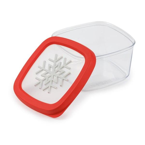 Czerwony pojemnik na żywność Snips Snowflake, 1,5 l